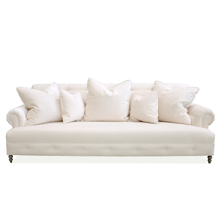 Mrs. Smith Cream Chenille Sofa
