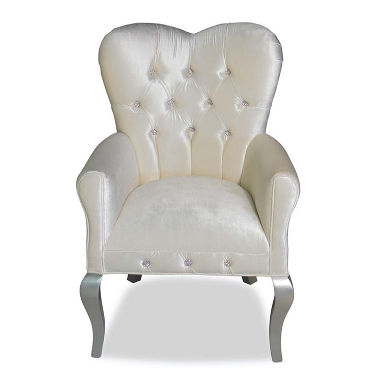 Amour Cream Velvet Chair