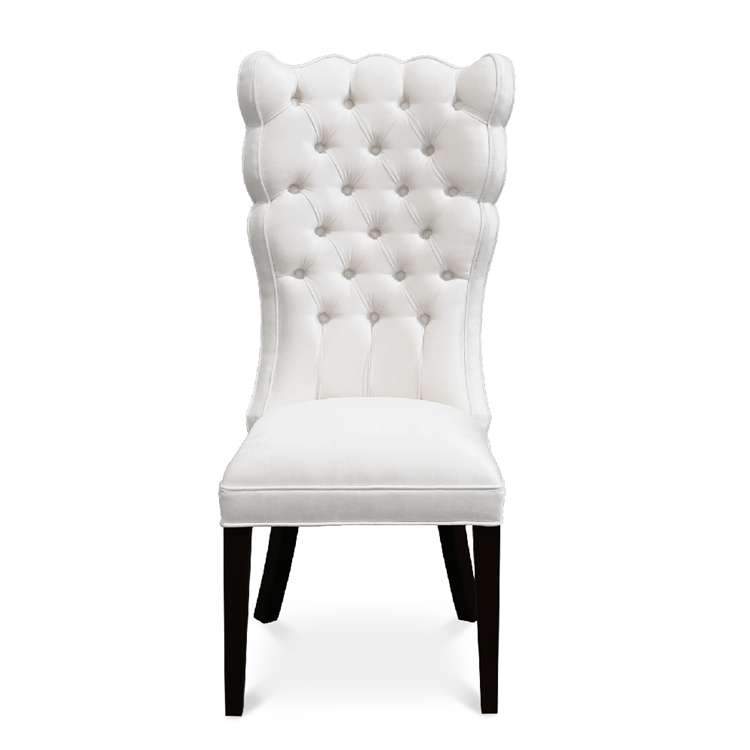 Pantages White Velvet Dining Chair