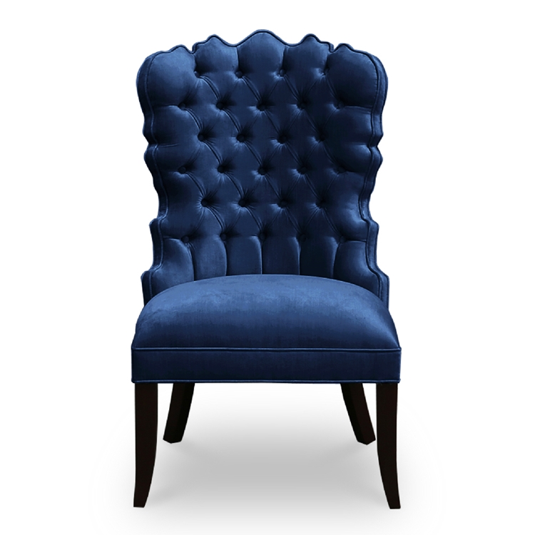 Bela Navy Velvet Dining Chair