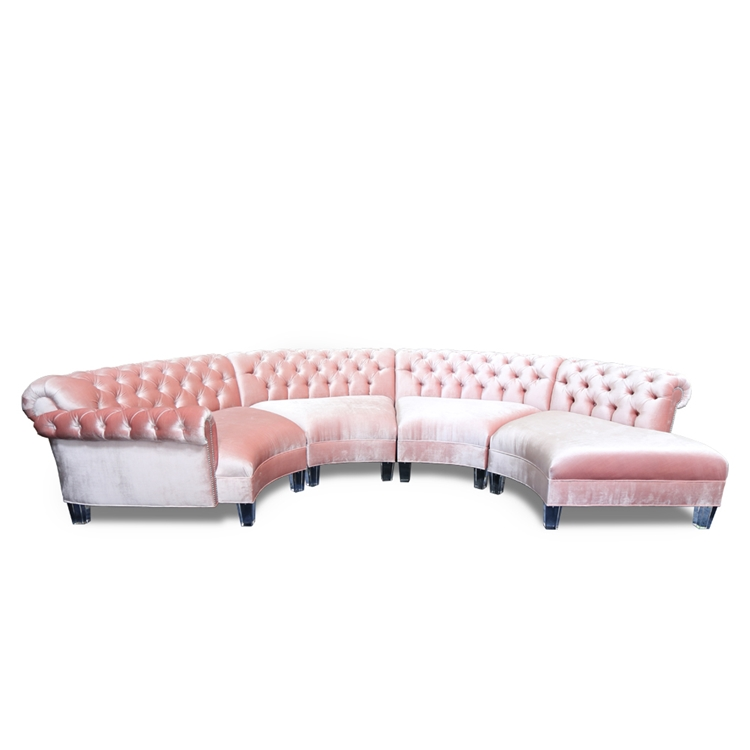 Varianne 4 pc. Coral Velvet Sectional