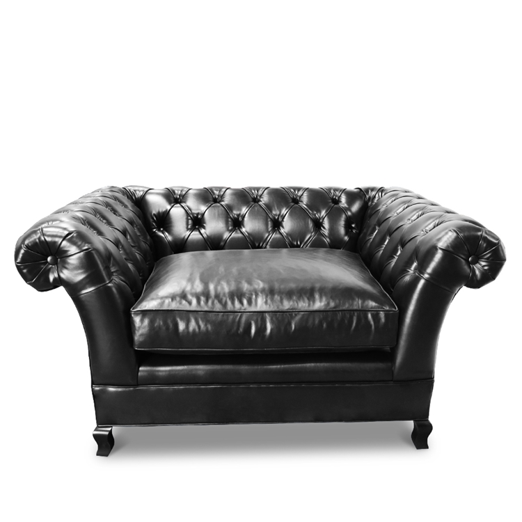 Baton Rouge Black Leather Chair